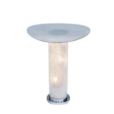 32 in. Acrylic Cover Pictured Table Lamp with Warm White Bulb