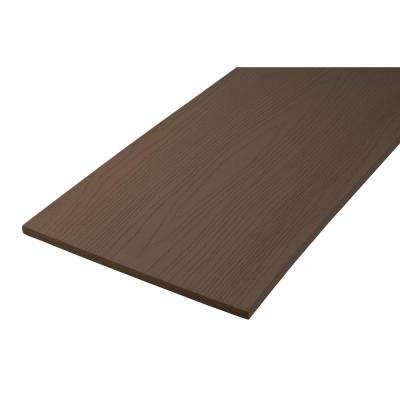 Harvest Collection 1/2 in. x 11-3/4 in. x 12 ft. Kona Fascia Capped Polymer Decking Board