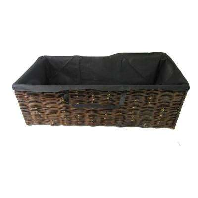 48 in. L 19 in. W 16 in. H Willow Rectangle Planter with Non Woven Grow Bags
