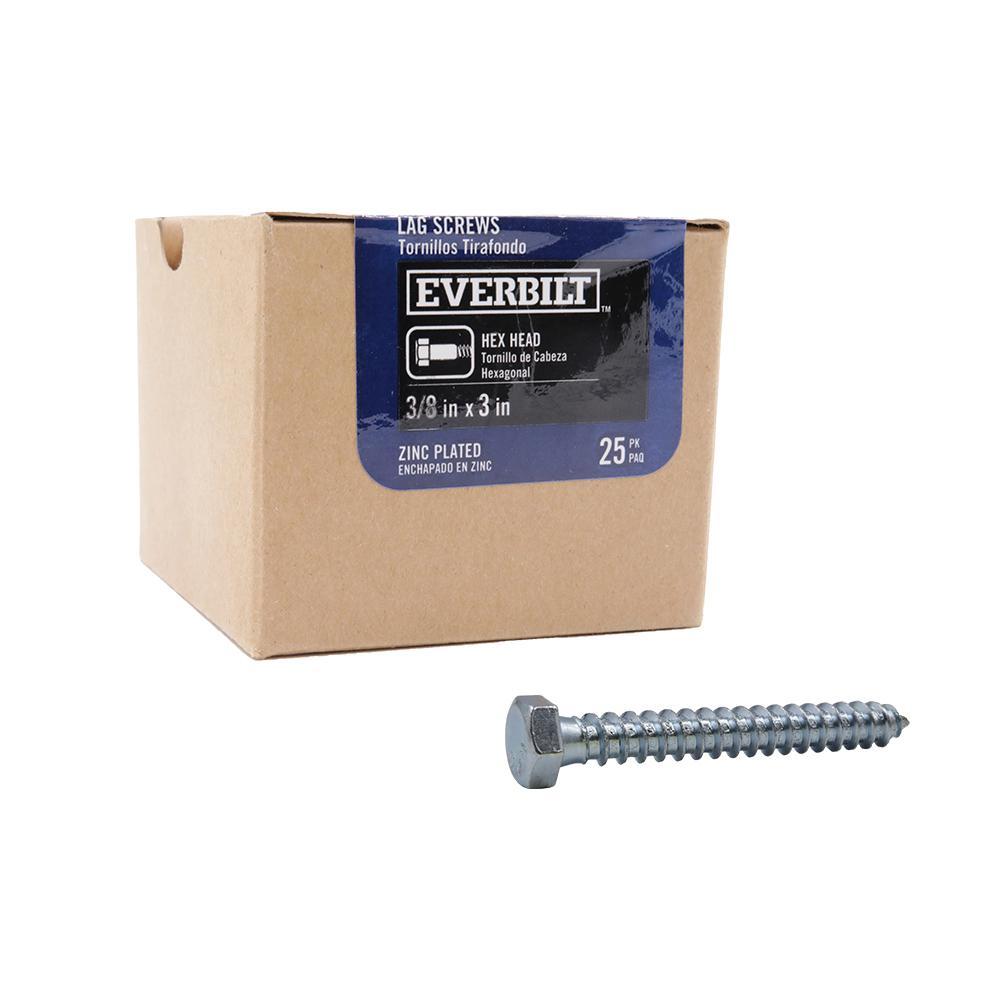 5//8 x 5 Hard-to-Find Fastener 014973383046 Hex Lag Screws Piece-25 Midwest Fastener Corp