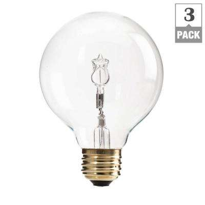40-Watt Halogen G25 Clear Decorative Globe Light Bulb (3-Pack)