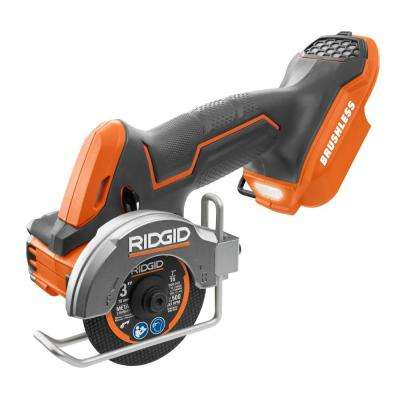 18-Volt SubCompact Lithium-Ion Cordless Brushless 3 in. Multi-Material Saw (Tool-Only) with (3) Cutting Wheels
