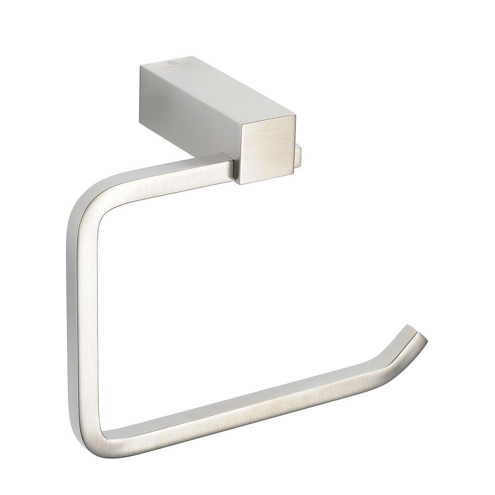 Attractive Fresca Ottimo Single Post Toilet Paper Holder In Brushed Nickel