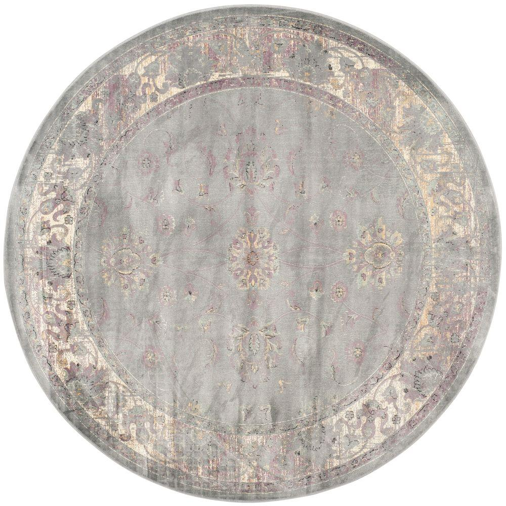 Safavieh Vintage Grey Multi 6 Ft X 6 Ft Round Area Rug