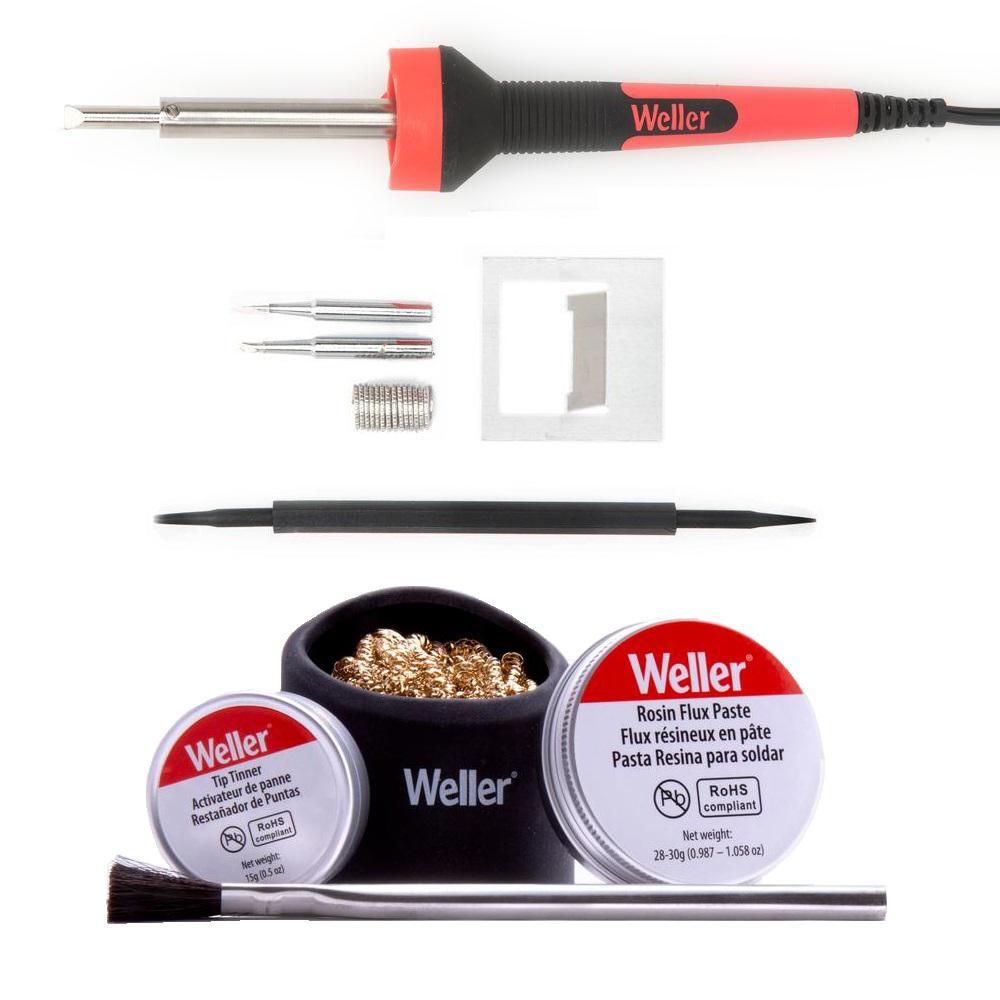 40-Watt LED Soldering Iron and Accessory Combo Kit