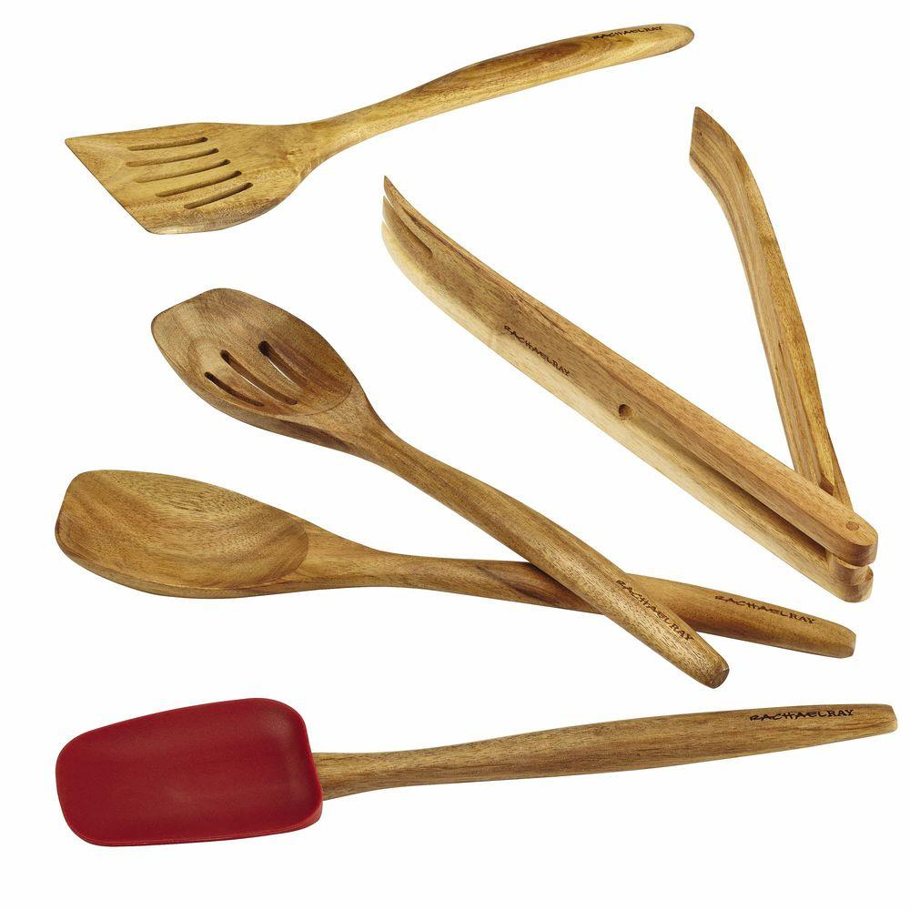 Rachael Ray Cucina Tools Red Kitchen Utensil Set (Set of 5)