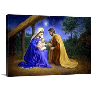 Greatbigcanvas Baby Jesus By Edgar Jerins Canvas Wall Art 1919492 24 24x16 The Home Depot
