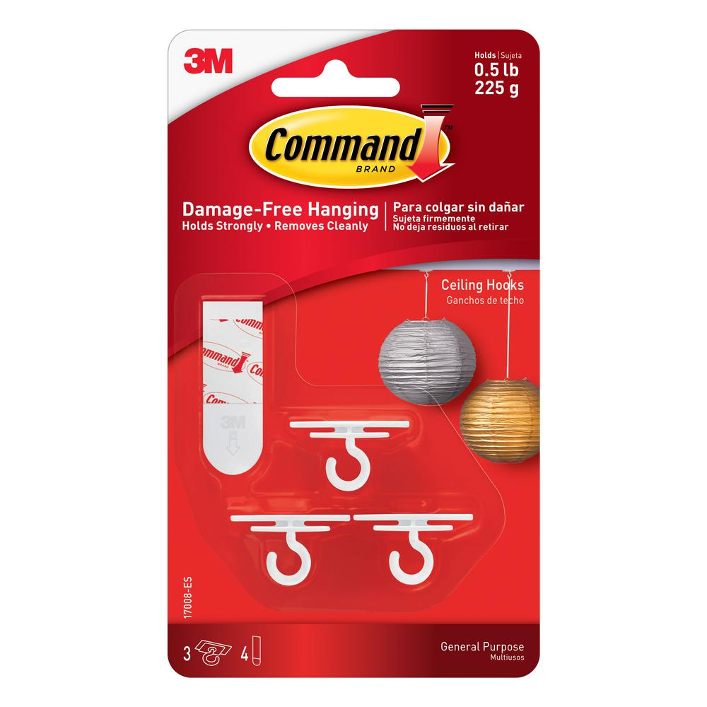 Command 4 Adhesive Strips Ceiling Hooks 3