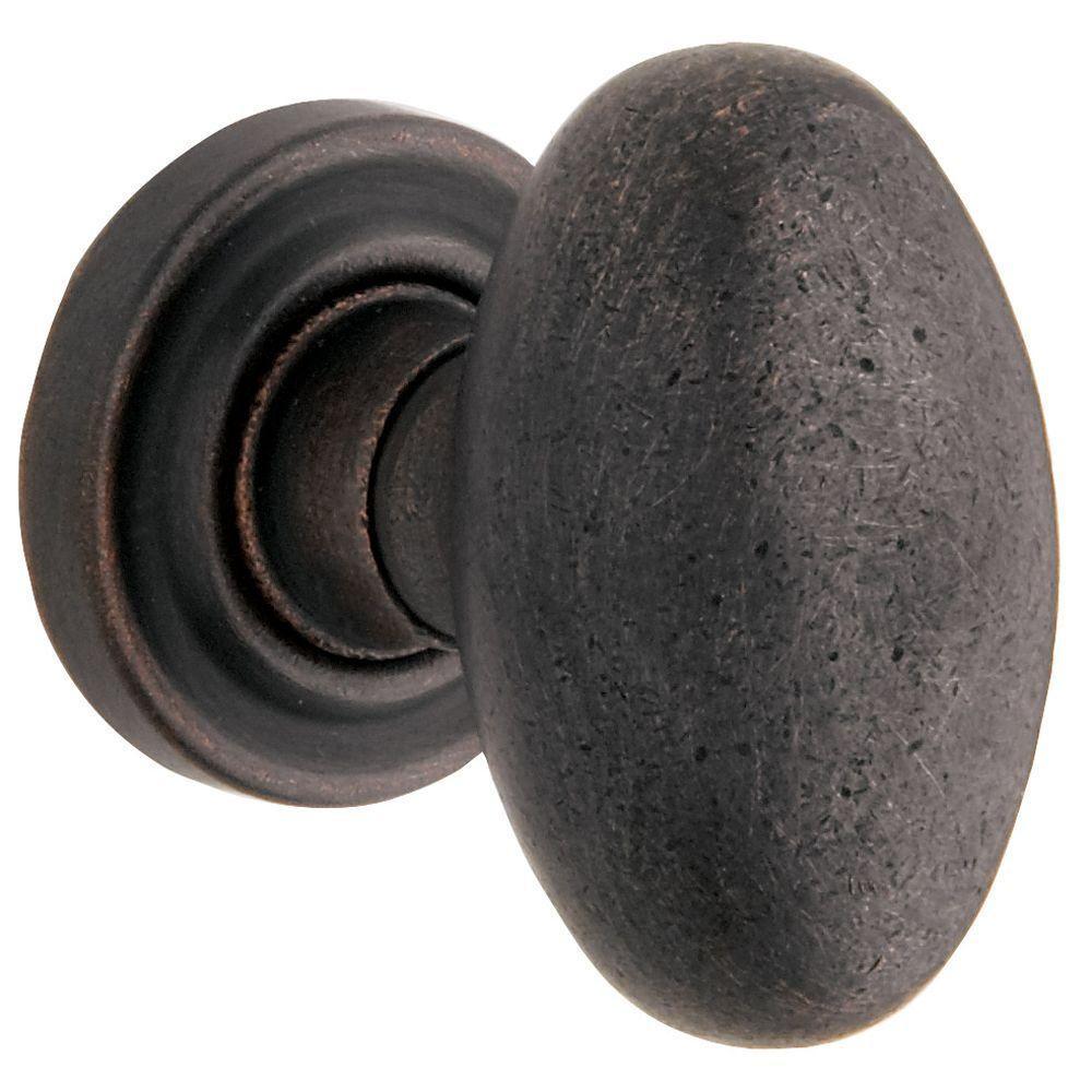 Baldwin Estate Distressed Oil Rubbed Bronze Full Dummy Egg Door Knob