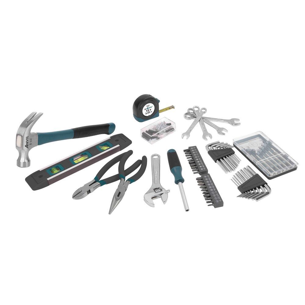 anvil homeowners tool set 143 piece 99667 the home depot. Black Bedroom Furniture Sets. Home Design Ideas