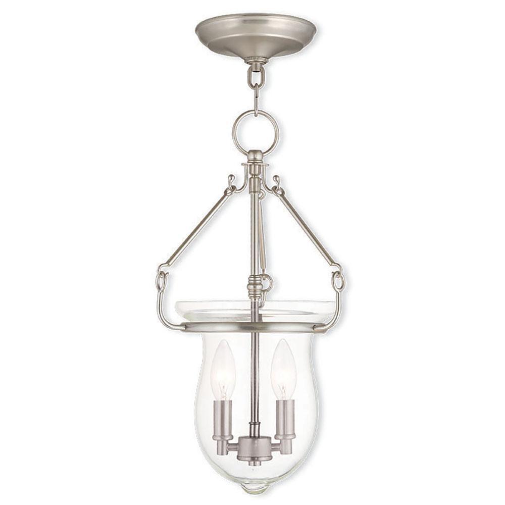 Livex Lighting Canterbury 2-Light Brushed Nickel Pendant