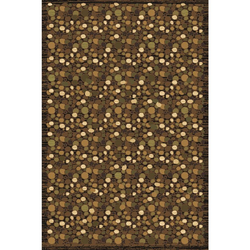 LA Rug Pebbles mostly Brown Crown Collection 39 in. x 58 in. Indoor Area Rug