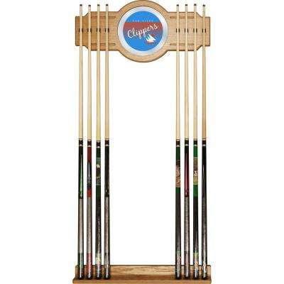 San Diego Clippers NBA Hardwood Classics 30 in. Wooden Billiard Cue Rack with Mirror