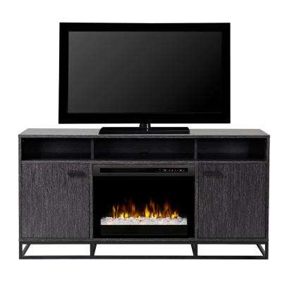 Reily 64 in. Electric Fireplace TV Stand Media Console in Grey Cerused