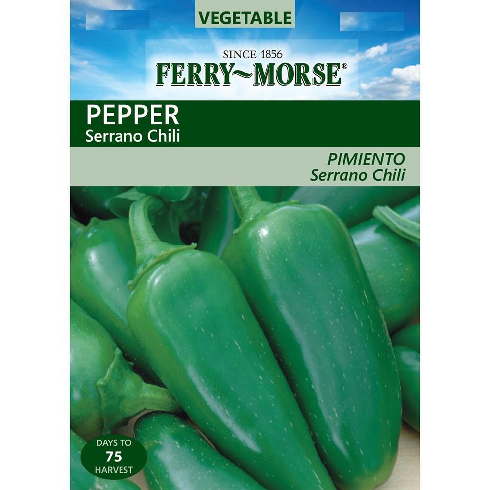 Ferry-Morse Serrano Chili Pepper Seed-2053 - The Home Depot on home depot organic gardening, home depot planting, home depot lavender, home depot weeds, home depot peonies, home depot chrysanthemums, home depot hostas, home depot fall, home depot wildlife, home depot sweet potato, home depot tobacco, home depot vegetables, home depot daffodils, home depot coffee, home depot green beans, home depot hot peppers, home depot rosemary, home depot lawn care, home depot drought, home depot recipes,