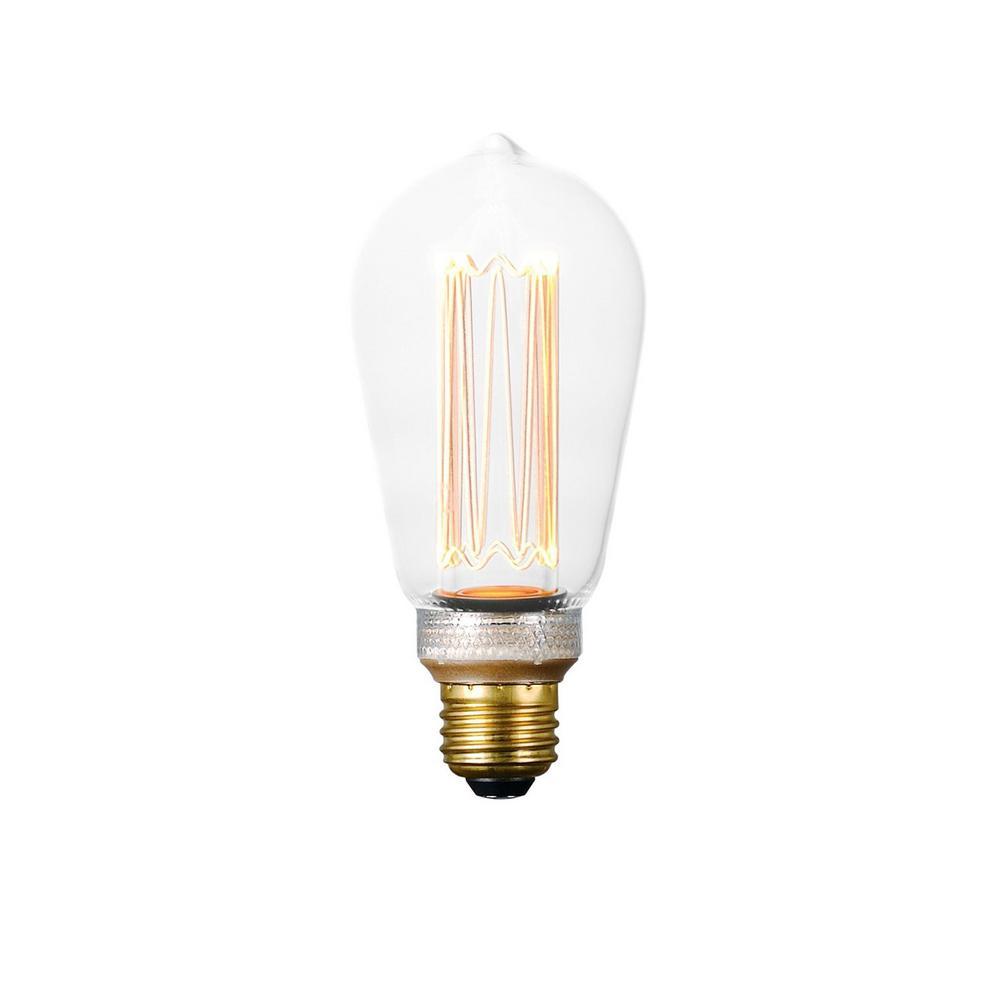 Maxim Lighting 60-Watt Equivalent Dimmable LED E26 ST64 Classic Pattern Clear Light Bulb