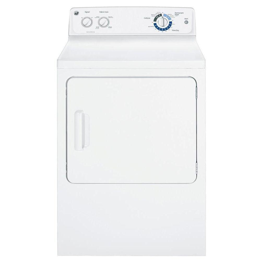 GE 6.0 cu. ft. Electric Dryer in White