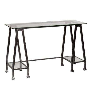 Black with silver distressing Desk