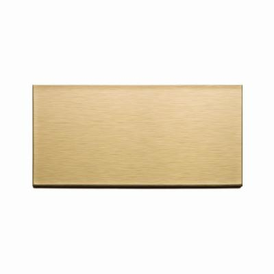 Long Grain 6 in. x 3 in. Brushed Champagne Metal Decorative Wall Tile (8-Pack)