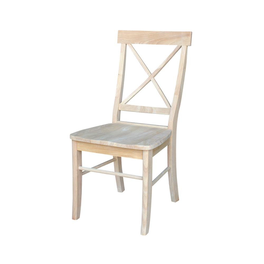 x back dining chairs International Concepts Unfinished Wood X Back Dining Chair (Set of  x back dining chairs