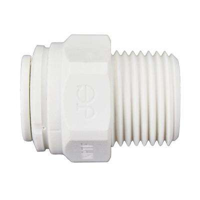 3/8 in. O.D. x 3/8 in. NPTF Polypropylene Push-to-Connect Male Connector