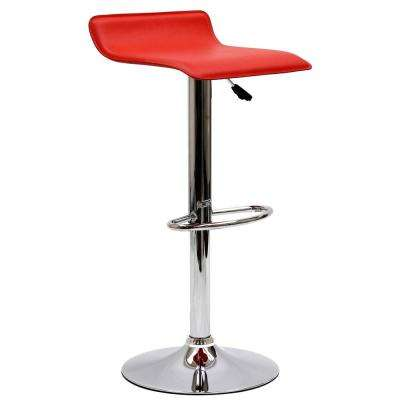 Gloria 33.5 in. Bar Stool in Red