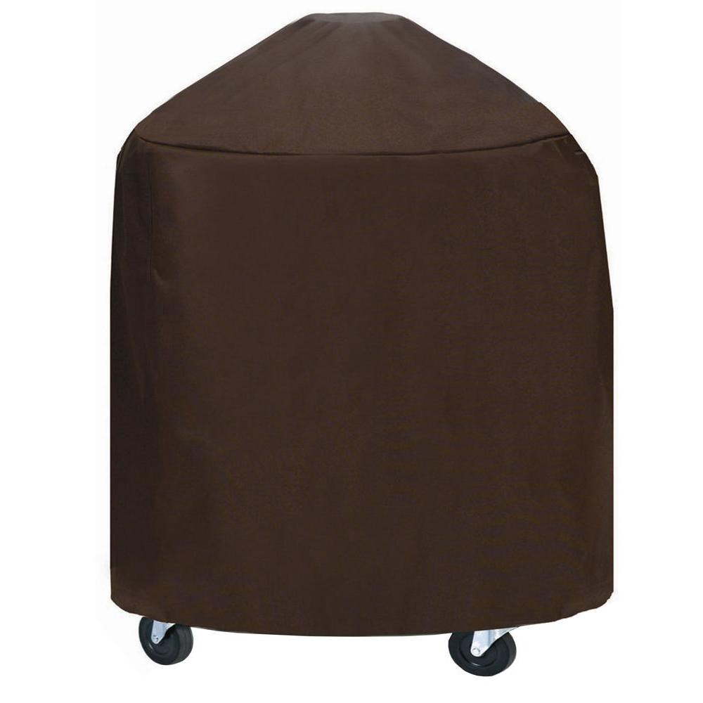 Two Dogs Designs 33 in. Round Grill/Smoker Cover Chocolate Brown-DISCONTINUED