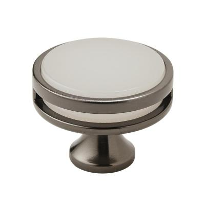 Oberon 1-3/4 in. Dia (44 mm) Diameter Gunmetal/Frosted Cabinet Knob