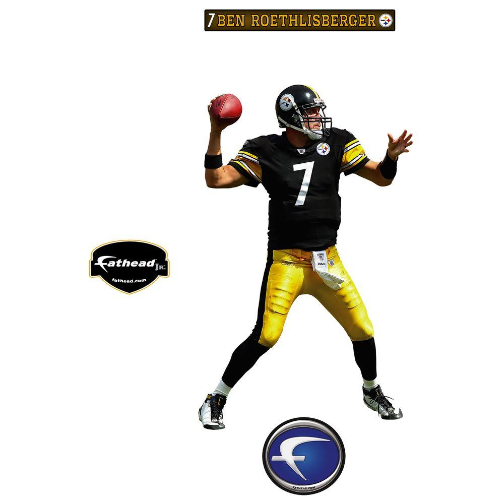 Fathead 20 in. x 32 in. Ben Roethlisberger Pittsburgh Steelers Wall Decal