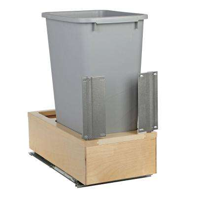 11-1/4 in. x 22-3/8 in. x 23-5/16 in. 50 Qt. Undermount Soft-Close Single Trash Can