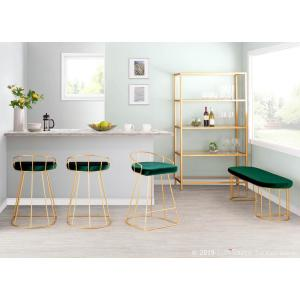 Brilliant Lumisource Canary Green Velvet With Gold Dining Entryway Squirreltailoven Fun Painted Chair Ideas Images Squirreltailovenorg
