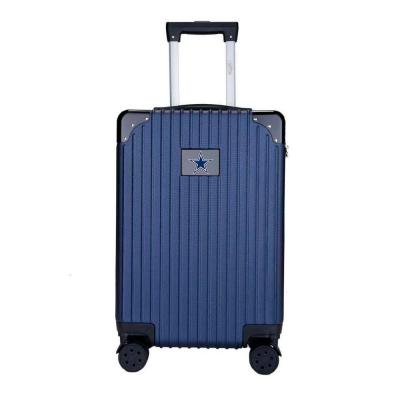 21 in. Navy Dallas Cowboys premium 2-Toned Carry-On Suitcase