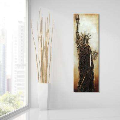 """72 in. x 22 in. """"Liberty"""" Mixed Media Wooden Hand Painted Dimensional Wall Art"""