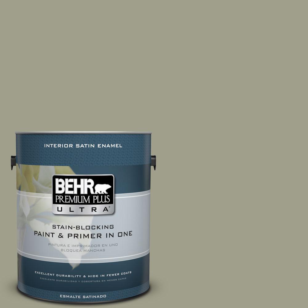 1-gal. #BXC-82 Potting Moss Satin Enamel Interior Paint
