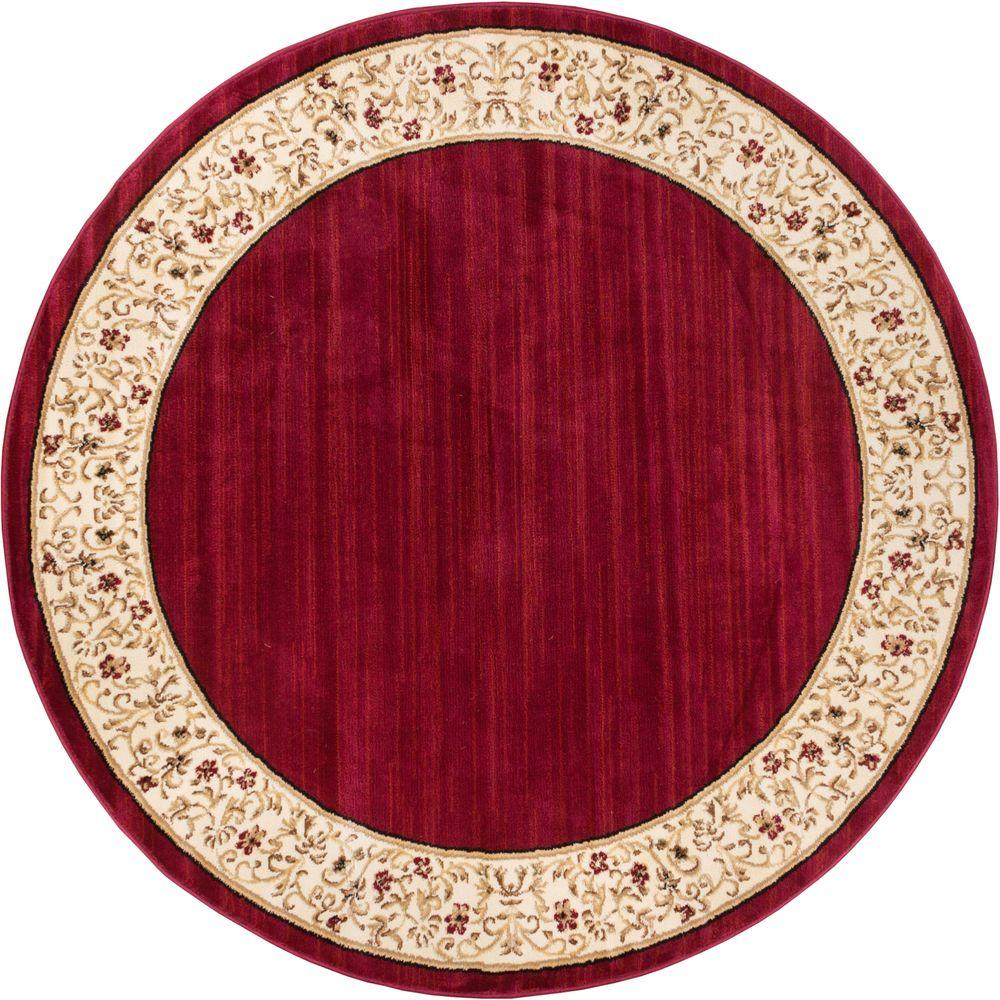 Round Or Rectangular Area Rug: Well Woven Barclay Terrazzo Red 5 Ft. 3 In. Transitional