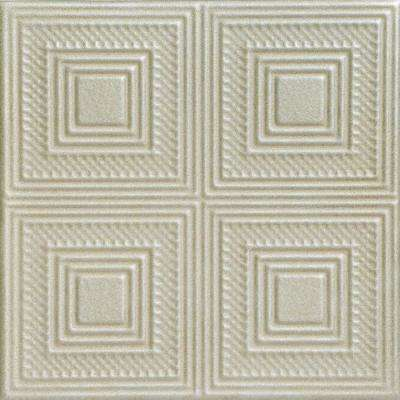 Nested Squares 1.6 ft. x 1.6 ft. Foam Glue-up Ceiling Tile in Onyx Gold
