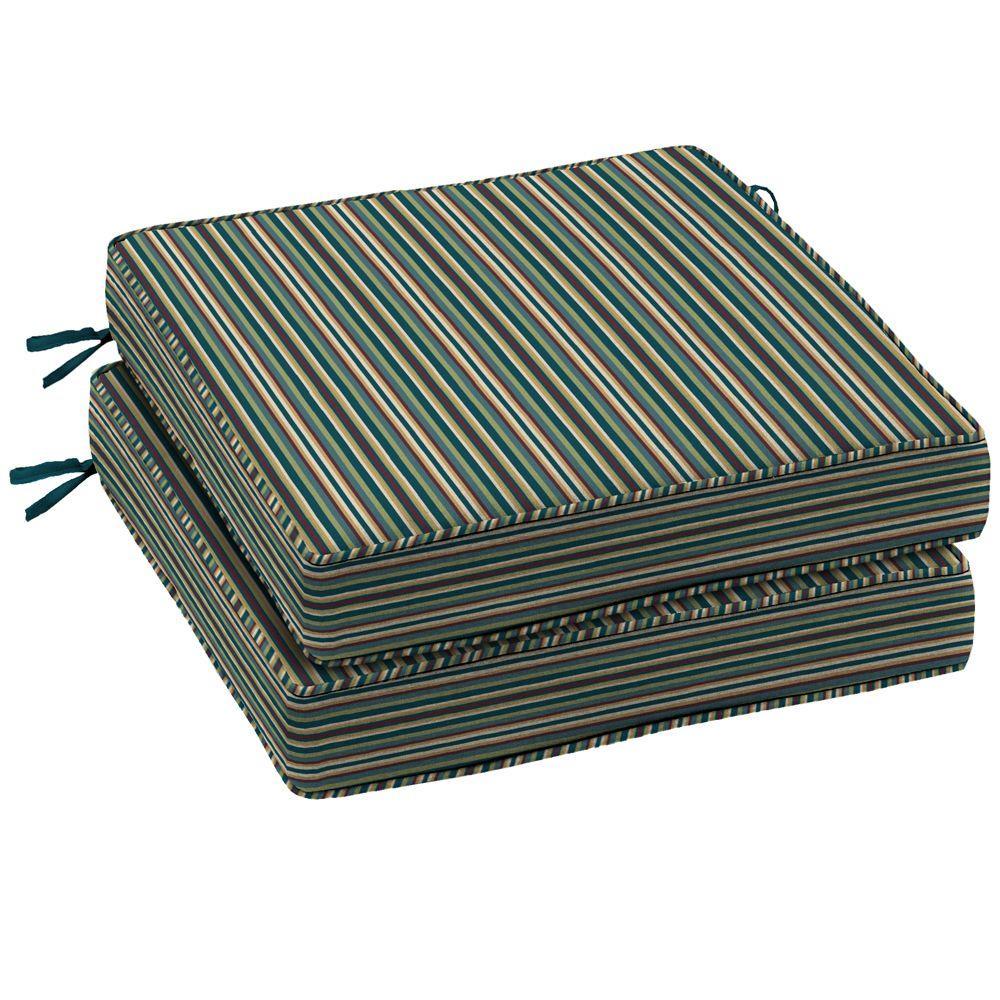Arden Devon Stripe Lotus Outdoor Seat Cushion 2 Pack-DISCONTINUED