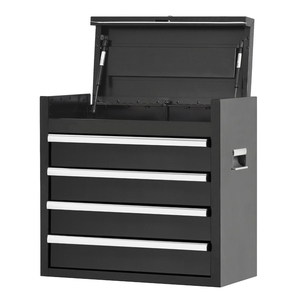 Mbi 26 In 4 Drawer Top Chest In Black Mtc26 4s The Home Depot