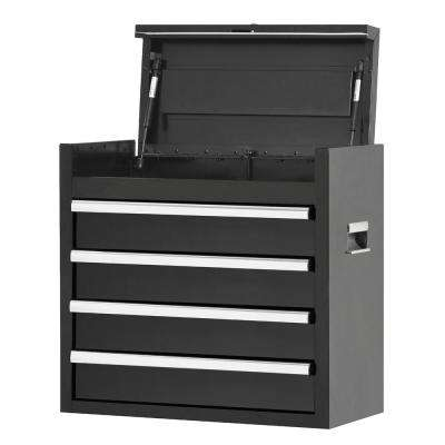 26 in. 4-Drawer Tool Chest, Black