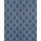 Pleasant Navy 7 ft. 6 in. x 9 ft. 6 in. Indoor/Outdoor Area Rug