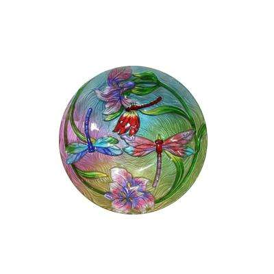 18 in. Flower with Dragonflies Birdbath