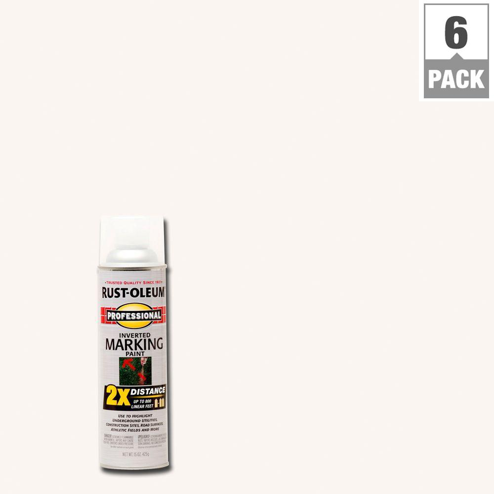 Rust-Oleum Professional 15 oz. 2X Clear Marking Spray Paint (6-Pack)