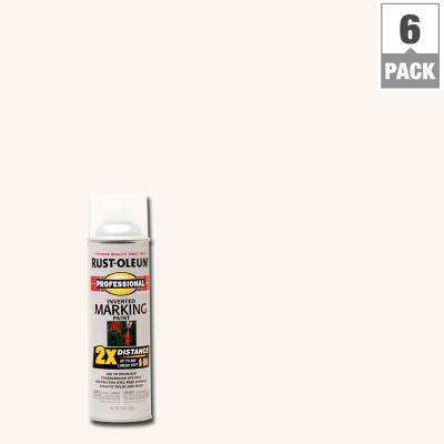 15 oz. Clear 2X Distance Inverted Marking Spray Paint (6-Pack)