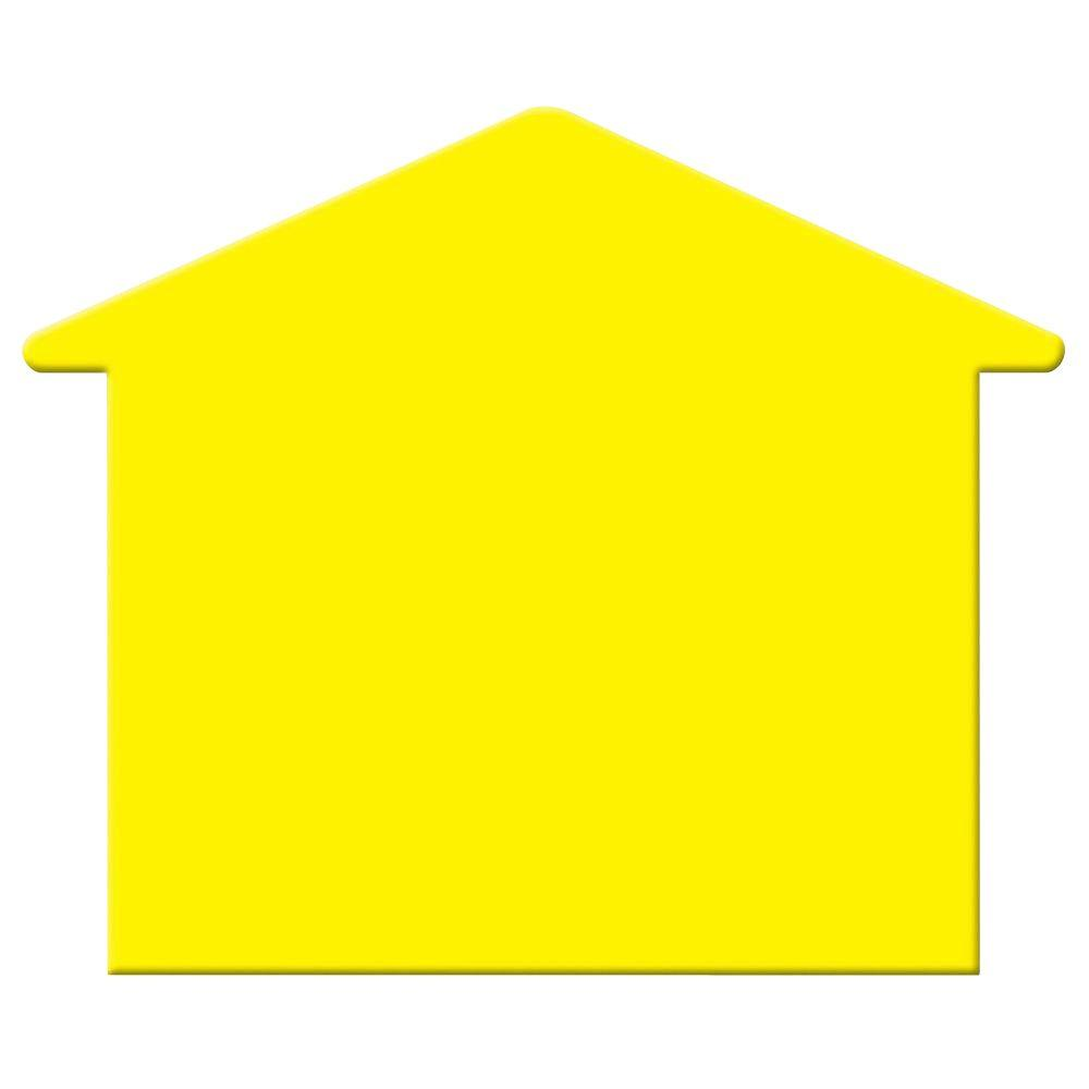 Corrugated plastic yellow house shape blank sign