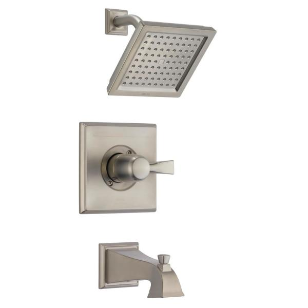 Dryden 1-Handle Tub and Shower Faucet Trim Kit Only in SpotShield Stainless (Valve Not Included)