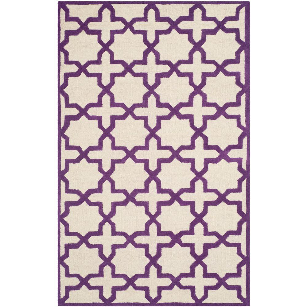 Safavieh Cambridge Ivory/Purple 5 ft. x 8 ft. Area Rug