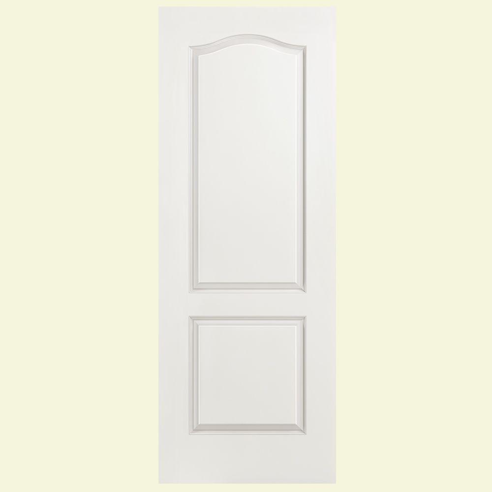Masonite 24 in x 80 in smooth 2 panel arch top hollow for Www masonite com interior doors