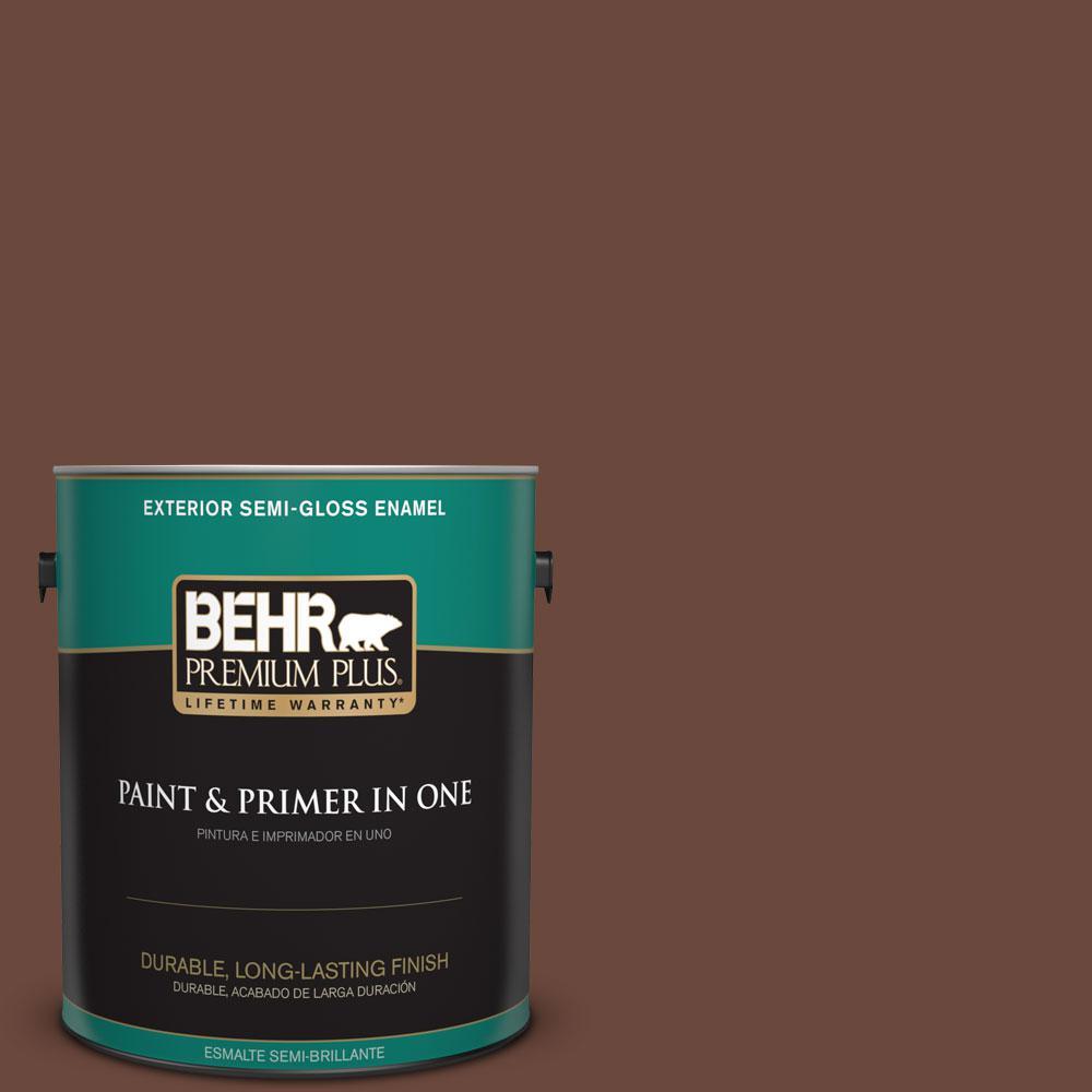 1-gal. #BXC-45 Classic Brown Semi-Gloss Enamel Exterior Paint