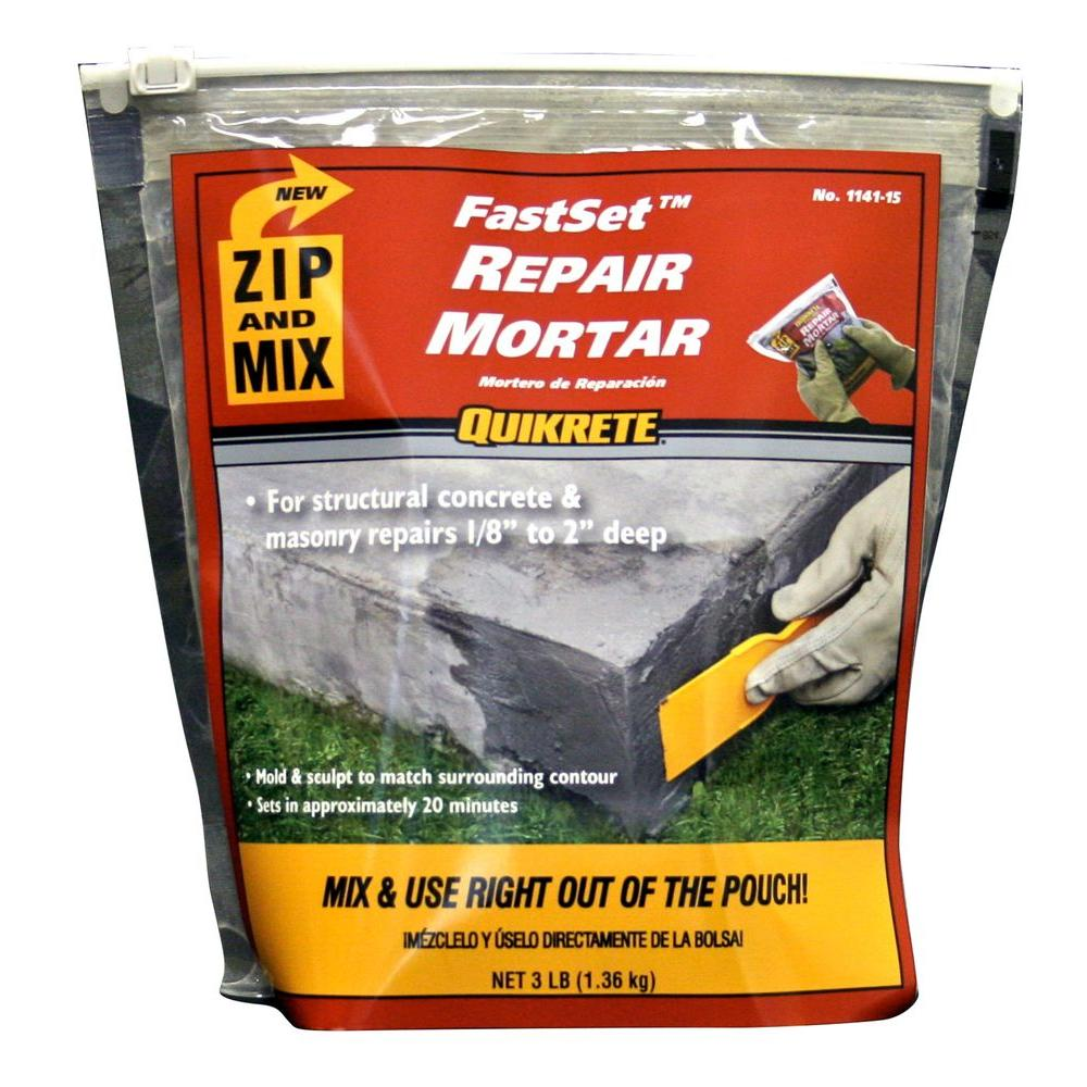 Quikrete 3 Lb Zip And Mix Repair Mortar 124115 The Home Depot