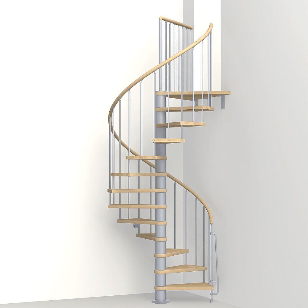 Arke Phoenix 47 in. Grey Spiral Staircase Kit-K07142 - The ...